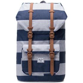Herschel Little America Backpack border stripe/saddle brown
